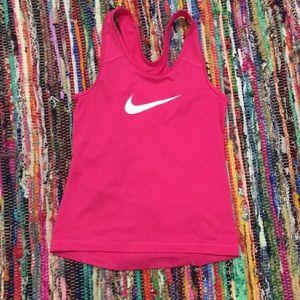 Girls pink Nike tank top